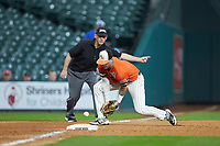 Ben Haefner (6) of the Sam Houston State Bearkats fields a ground ball at third base against the Mississippi State Bulldogs during game eight of the 2018 Shriners Hospitals for Children College Classic at Minute Maid Park on March 3, 2018 in Houston, Texas. The Bulldogs defeated the Bearkats 4-1.  (Brian Westerholt/Four Seam Images)