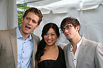 Matthew Morrison (ATWT) stars in GLEE with Jenna Ushkowitz and Kevin McHale as they attend the FOX 2009 Programming Presentation (Upfronts) Post-Party on May 18, 2009 at Wollman Rink in Central Park, New York City, New York.  (Photo by Sue Coflin/Max Photos)