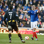 Lee Wallace has no options for a pass