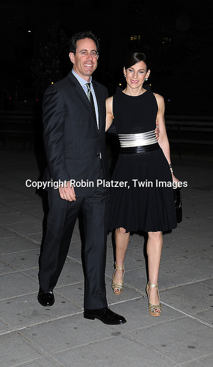 Jerry Seinfeld and wife Jessica ..arriving at The Vanity Fair Party ot open The 2008 Tribeca Film Festival on April 22, 2008 at The State Supreme Court House in New York City. ....Robin Platzer, Twin Images
