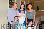 Baby Tadgh Foley with his mother Michelle Foley and brother Killian & sister Lexi and god parents Stephen Foley & Erin Moriarity who was christened in Ballylongford church by Fr. Kennelly on Saturday last and afterwards at the Listowel Arms Hotel.
