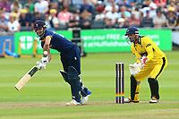 Ryan ten Doeschate in batting action for Essex as Phil Mustard looks on from behind the stumps during Gloucestershire vs Essex Eagles, NatWest T20 Blast Cricket at The Brightside Ground on 13th August 2017