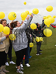 Max Mason's mother Tracy Woods releases balloons in his memory. Photo:Colin Bell/pressphotos.ie