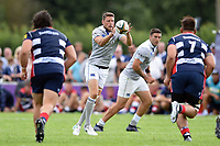 Rhys Priestland of Bath Rugby receives the ball. Pre-season friendly match, between Bristol Rugby and Bath Rugby on August 12, 2017 at the Cribbs Causeway Ground in Bristol, England. Photo by: Patrick Khachfe / Onside Images