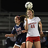 Ciara O'Brien #46 of Wheatley, right, makes a header during the Nassau County varsity girls soccer Class B final against Cold Spring Harbor at Bethpage High School on Monday, Oct. 29, 2018.