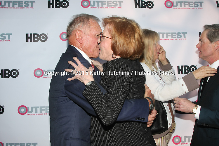 """LOS ANGELES - JUL 11:  Tab Hunter, Carol Burnett at the """"Tab Hunter Confidential"""" at Outfest at the Directors Guild of America on July 11, 2015 in Los Angeles, CA"""