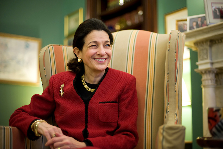 Olympia Snowe during an interview with Roll Call in her office, December 3, 2009.