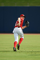 GCL Nationals center fielder Justin Connell (11) during warmups before the first game of a doubleheader against the GCL Mets on July 22, 2017 at The Ballpark of the Palm Beaches in Palm Beach, Florida.  GCL Mets defeated the GCL Nationals 1-0 in a seven inning game that originally started on July 17th.  (Mike Janes/Four Seam Images)