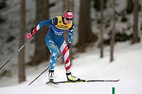 31st December 2019; Dobbiaco, Toblach, South Tyrol, Italy;  FIS Tour de Ski - Cross Country Ski World Cup 2019  in Dobbiaco, Toblach, on December 31, 2019; Sadie Maubet Bjornsen of USA in the Womens individual 10km