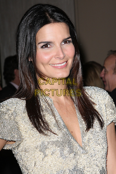 ANGIE HARMON.Attending The Alliance for Children's Rights held At The Beverly Hilton Hotel, Beverly Hills, California, USA,.10th February 2010..portrait headshot smiling gold silver dress .CAP/ADM/KB. ©Kevan Brooks/AdMedia/Capital Pictures..