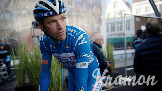Frederik Veuchelen (BEL/Wanty-Groupe Gobert) on the start podium<br /> <br /> 99th Ronde van Vlaanderen 2015
