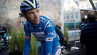 Frederik Veuchelen (BEL/Wanty-Groupe Gobert) on the start podium<br /> <br /> 99th Ronde van Vlaanderen 2015