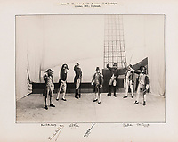 BNPS.co.uk (01202 558833)<br /> Pic: ForumAuctions/BNPS<br /> <br /> Pictured: A scene that on board the deck of the Bucentaure at the battle of Trafalgar in 1805.<br /> <br /> Charming previously unseen photos of a university's historic Thomas Hardy's production have come to light a century later.<br /> <br /> They show the performance of his play 'The Dynasts' by the Oxford Union Dramatic Society in 1920.<br /> <br /> It was the first time the prestigious society, which was founded in 1885, staged a play by a living author.<br /> <br /> The large ensemble cast can be seen in costume performing various scenes from Hardy's epic Napoleonic Wars drama which was published in three parts in 1904, 1905 and 1908.<br /> <br /> Hardy was a distant relative of Captain Thomas Hardy, who served with Admiral Nelson at the Battle of Trafalgar.