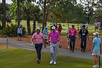 Jon Rahm (ESP) and Ross Fisher (ENG) make their way to 2 during round 4 of The Players Championship, TPC Sawgrass, at Ponte Vedra, Florida, USA. 5/13/2018.<br /> Picture: Golffile | Ken Murray<br /> <br /> <br /> All photo usage must carry mandatory copyright credit (&copy; Golffile | Ken Murray)