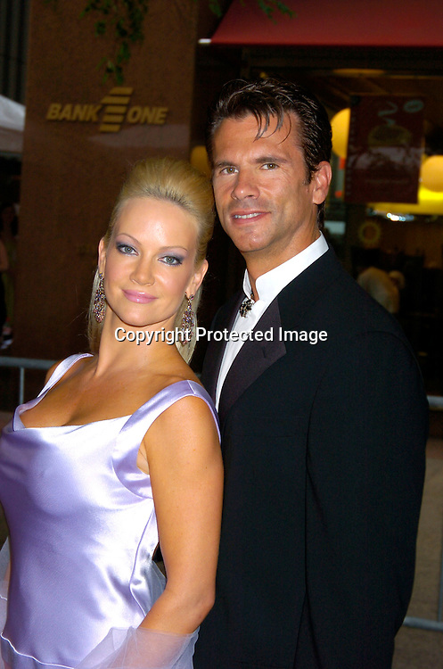 Lorenzo Lamas and girlfriend Barbara Moore ..arriving at the Daytime Emmy Awards on May 21, 2004 at  at Radio City Music Hall...Photo by Robin Platzer, Twin Images