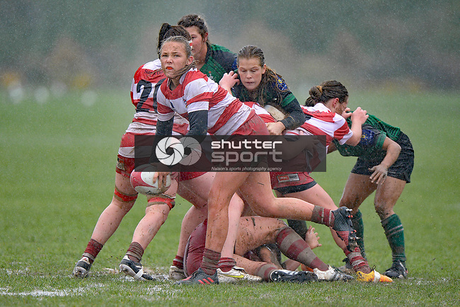 NELSON, NEW ZEALAND - JULY 1: Rugby, Marist women v Waimea women at Tahunanui, July 1, 2017, Nelson, New Zealand. (Photo by: Barry Whitnall Shuttersport Limited)