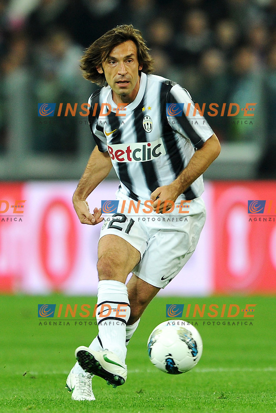 """Andrea Pirlo Juventus.Torino 11/4/2012 Stadio """"Juventus Stadium"""".Football Calcio 2011/2012 Campionato Italiano Serie A.Juventus Vs Lazio.Foto Insidefoto Andrea Staccioli"""
