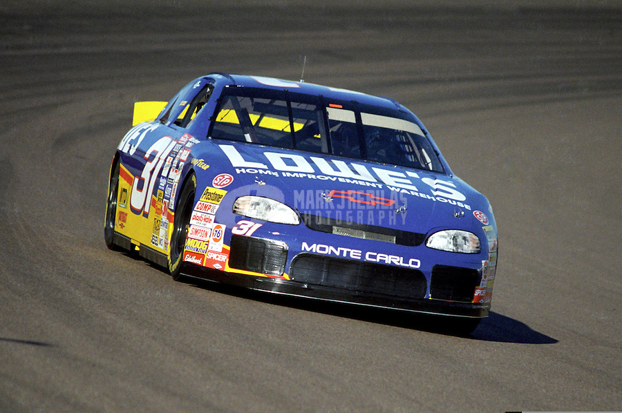Nov. 1, 1997; Avondale, AZ, USA; NASCAR Winston Cup Series driver Mike Skinner during the Dura Lube 500 at Phoenix International Raceway. Mandatory Credit: Mark J. Rebilas-