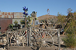 wagon wheel gate in Randsburg