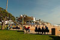 People Watching In Downtown Laguna Beach, California