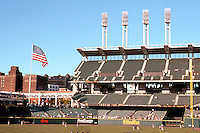Ballparks: Cleveland--Jacobs Field. Right field seats.