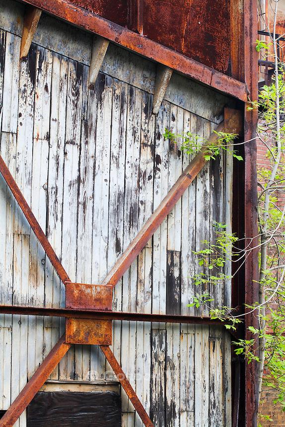 Sliding Shed Door on Abandoned Factory Property