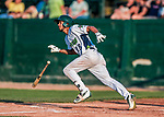 20 August 2017: Vermont Lake Monsters infielder Jesus Lage in action against the Connecticut Tigers at Centennial Field in Burlington, Vermont. The Lake Monsters rallied to edge out the Tigers 6-5 in 13 innings of NY Penn League action.  Mandatory Credit: Ed Wolfstein Photo *** RAW (NEF) Image File Available ***