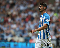 Huddersfield Town's Christopher Schindler <br /> <br /> Photographer Stephen White/CameraSport<br /> <br /> The Premier League - Huddersfield Town v Chelsea - Saturday August 11th 2018 - The John Smith&rsquo;s Stadium<br />  - Huddersfield<br /> <br /> World Copyright &copy; 2018 CameraSport. All rights reserved. 43 Linden Ave. Countesthorpe. Leicester. England. LE8 5PG - Tel: +44 (0) 116 277 4147 - admin@camerasport.com - www.camerasport.com