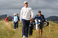 Jacques Kruyswijk (RSA) walking to the 2nd tee during Round 1 of the Dubai Duty Free Irish Open at Ballyliffin Golf Club, Donegal on Thursday 5th July 2018.<br /> Picture:  Thos Caffrey / Golffile