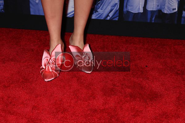 """Allegra Acosta shoe detail<br /> at """"Excelsior! A Celebration of the Amazing, Fantastic, Incredible & Uncanny Life of Stan Lee,"""" TCL Chinese Theater, Hollywood, CA 01-30-19<br /> David Edwards/DailyCeleb.com 818-249-4998"""