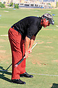 CLARKE Darren (NIR) warms up on the range prior to the third round of the Dubai World Championship presented by DP World, played over the Earth Course, Jumeira Golf Estates on 27th November 2010 in Dubai, UAE......