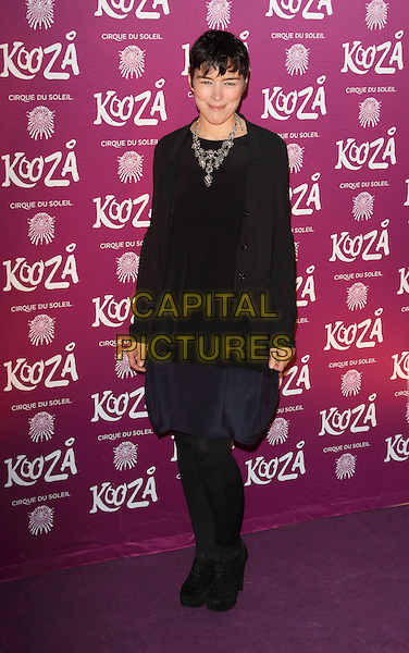 "Olivia Williams.VIP Night for Cirque du Soleil's new production, ""Kooza"" at the Royal Albert Hall, London, England..January 8th 2013.full length black dress tights.CAP/ROS.©Steve Ross/Capital Pictures."