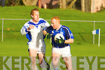 Gripping: Kerins O'Rahillys v Laune Rangers' Liam Hassett in their County League Division 1 game in Killorglin.Gripping: Kerins O'Rahillys Timmy O'Sullivan v Laune Rangers' Liam Hassett in their County League Division 1 game in Killorglin.