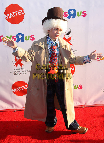 RYAN SIMPKINS .15th Annual Dream Halloween to benefit the Children Affected by AIDS held at Barker Hangar at the Santa Monica Air Center, Santa Monica, California, USA,.25 October 2008 .full length costume outfit dressed-up hat wig coat tie clown .CAP/ADM/CH.©Charles Harris/Admedia/Capital Pictures