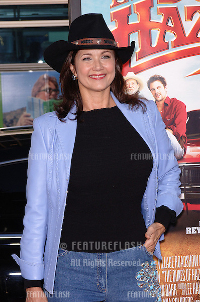 Actress LYNDA CARTER at the Los Angeles premiere of her new movie The Dukes of Hazzard..July 28, 2005 Los Angeles, CA.© 2005 Paul Smith / Featureflash