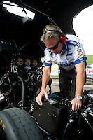 May 20, 2011; Topeka, KS, USA: NHRA funny car crew chief Rahn Tobler during qualifying for the Summer Nationals at Heartland Park Topeka. Mandatory Credit: Mark J. Rebilas-