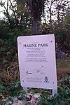 Marine park sign, Cayman Brac, Cayman Islands, British West Indies,