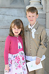 Adam and Ella McCabe at the Scoil Aonghusa Communion in St.Peters Church...Photo NEWSFILE/Jenny Matthews.(Photo credit should read Jenny Matthews/NEWSFILE)....This Picture has been sent you under the condtions enclosed by:.Newsfile Ltd..The Studio,.Millmount Abbey,.Drogheda,.Co Meath..Ireland..Tel: +353(0)41-9871240.Fax: +353(0)41-9871260.GSM: +353(0)86-2500958.email: pictures@newsfile.ie.www.newsfile.ie.FTP: 193.120.102.198.