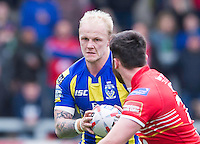 Picture by Allan McKenzie/SWpix.com - 04/03/2017 - Rugby League - Betfred Super League - Salford Red Devils v Warrington Wolves - AJ Bell Stadium, Salford, England - Rhys Evans.
