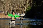Winter fly fishing, Rainbow trout, Brad Berlin