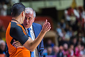 22nd March 2018, Aleksandar Nikolic Hall, Belgrade, Serbia; Turkish Airlines Euroleague Basketball, Crvena Zvezda mts Belgrade versus Fenerbahce Dogus Istanbul; Head Coach Zeljko Obradovic of Fenerbahce Dogus Istanbul talks with the referee