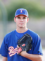Cody Buckel - AZL Rangers - 2010 Arizona League. Buckel, the Rangers 2nd round draft choice, reported to their Arizona League affiliate after signing his contract..Photo by:  Bill Mitchell/Four Seam Images..