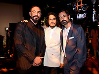"""LOS ANGELES - AUGUST 27: (L-R) Clayton Cardenas, Richard Cabral and Danny Pino attend the post party at Sunset Room Hollywood following the season two red carpet premiere of FX's """"Mayans M.C"""" on August 27, 2019 in Los Angeles, California. (Photo by Frank Micelotta/FX/PictureGroup)"""