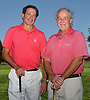 Dan Lennon, right, poses for a portrait with longtime friend and fellow golfer Jon Tellekamp outside the clubhouse of Rockville Links Club in Rockville Centre on Wednesday, Aug. 30, 2017. Lennon, who suffered a heart attack on the 17th Hole of the club's course on Oct. 30, 2016, recovered and recently made a hole-in-one on the exact same hole. Tellekamp golfed with Lennon on both occasions.