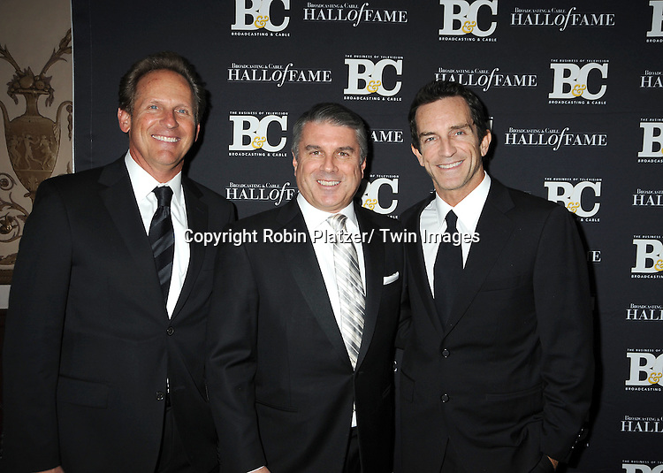John Nogawski, Ted Harbert and Jeff Probst attend the 2011 Broadcasting & Cable Hall of Fame Awards on October 26, 2011 at the Waldorf Astoria Hotel in New York City.