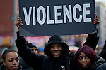 Rally against gun violence In Harlem New York City