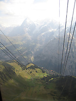 Cable car vista, Swiss Alps