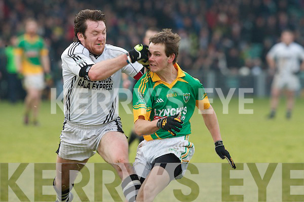 Castlegregory's Ryan Kelliher and Longwood's Michael Burke.