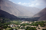 12 June 2013, Urrow Village, Bazarak District, Panjshir Province,  Afghanistan.   The view down the the Panjshir Valley from the monument at the grave of famed Afghan freedom fighter Massod on a hill in the Panjshir Valley.  Picture by Graham Crouch/World Bank