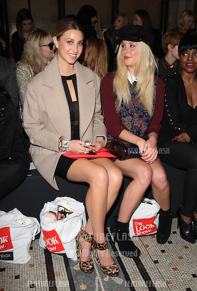 Whitney Port and Diana Vickers at The Look fashion show in association with Smashbox cosmetics held at the Royal Courts of Justice, London. 06/10/2012 Picture by: Henry Harris / Featureflash